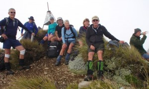 Clouds got in our way - at the trig atop Te Atuaoparapara