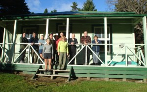 The Revellers, lined up for the photo opportunity on the verandah