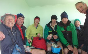 Seven in Dominie Bivvy for lunch