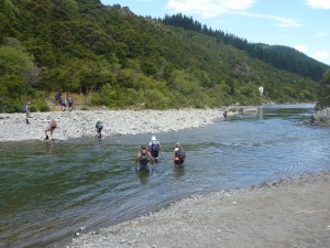 The last river crossing/swim of the day