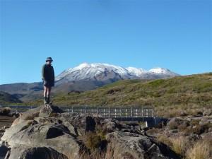 Mt Ruahpehu from the Taranaki Falls track