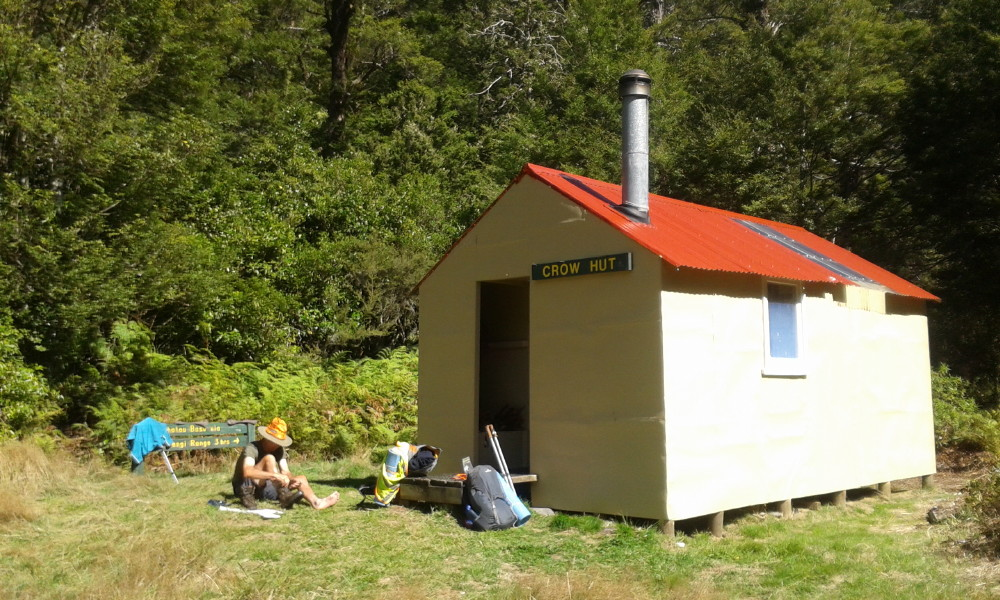 Crow Hut is in a superb location