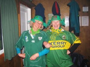 Jude and Sue, doing an Irish jig