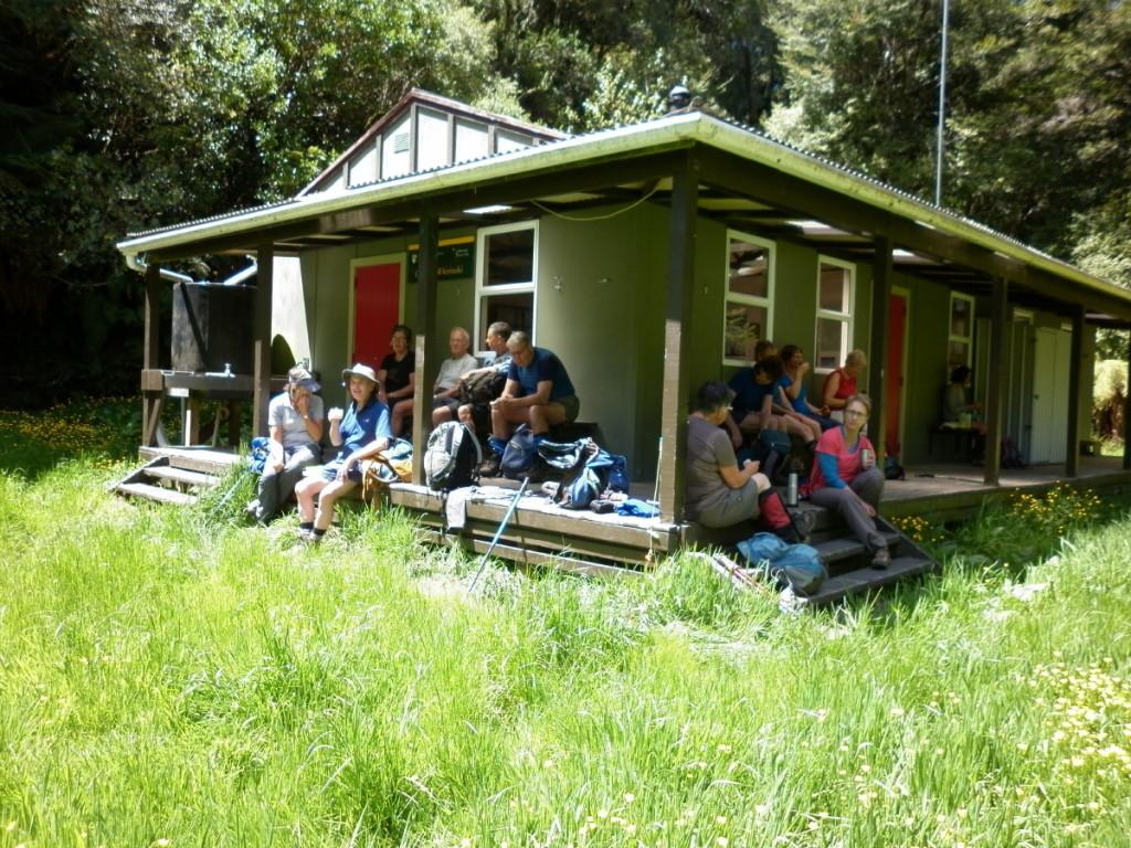 Lunch at Central Whirinaki Hut