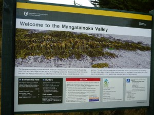 The new information board - top marks