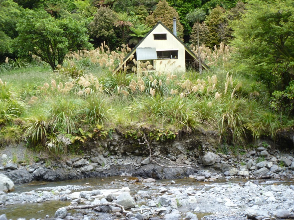 Daphne Hut from the river bank opposite