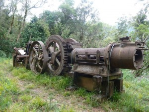 Some of the old engineering equipment left behind
