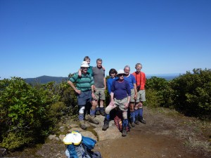 On the summit of Titiraupenga - the centre of the North Island