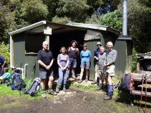 The group outside Bog Inn