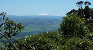 The views of Ruapehu and Tongariro