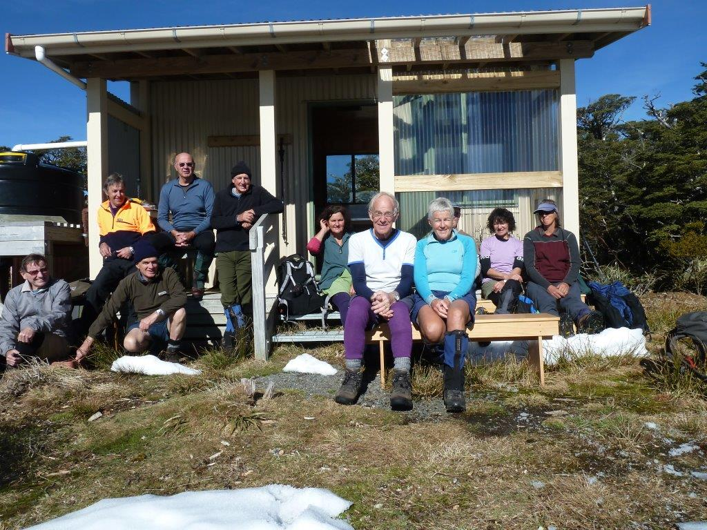 The blue sky day at Parks Peak Hut