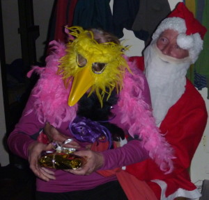 Santa and one funcky chick