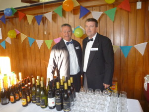 The two barmen, Russell and Kelvin