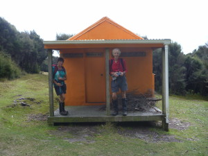 Makino Hut, Juliet and Geoff check it out