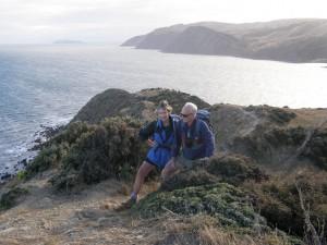 Denise and Paul enjoying the coastal walk