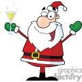 Santa-Claus-Drinking-Champagne