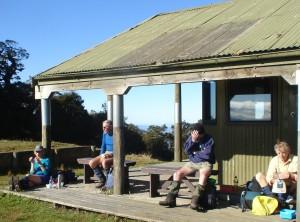 Resting at the Panekiri Hut